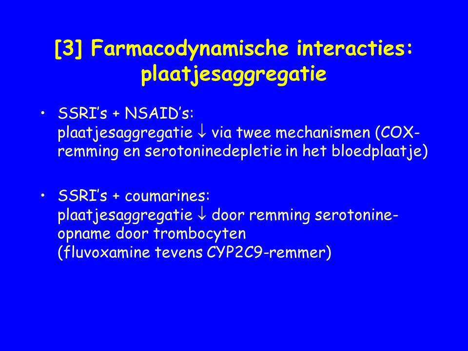 [3] Farmacodynamische interacties: plaatjesaggregatie